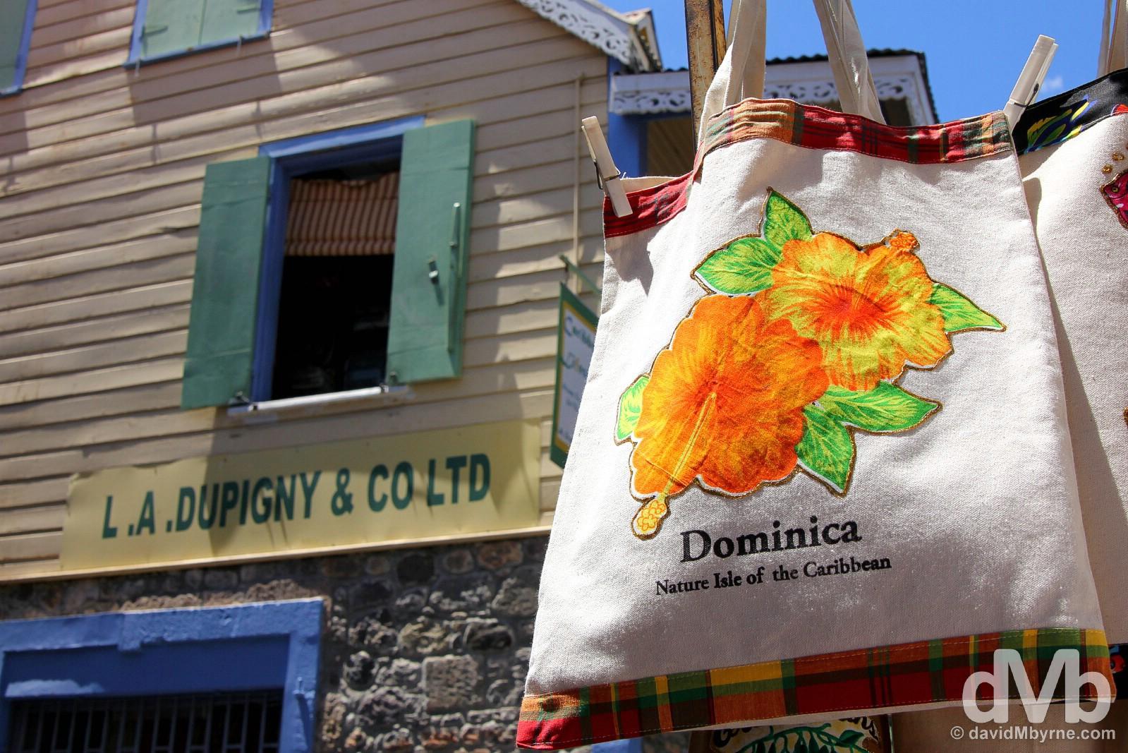 Old Market, Roseau, Dominica, Lesser Antilles. June 10, 2015.