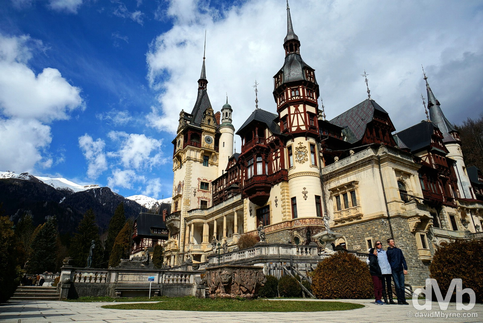 Peles Castle, Romania. April 2, 2015.
