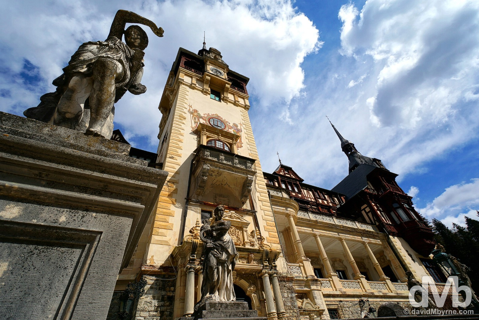 Fronting Peles Castle, Romania. April 2, 2015.