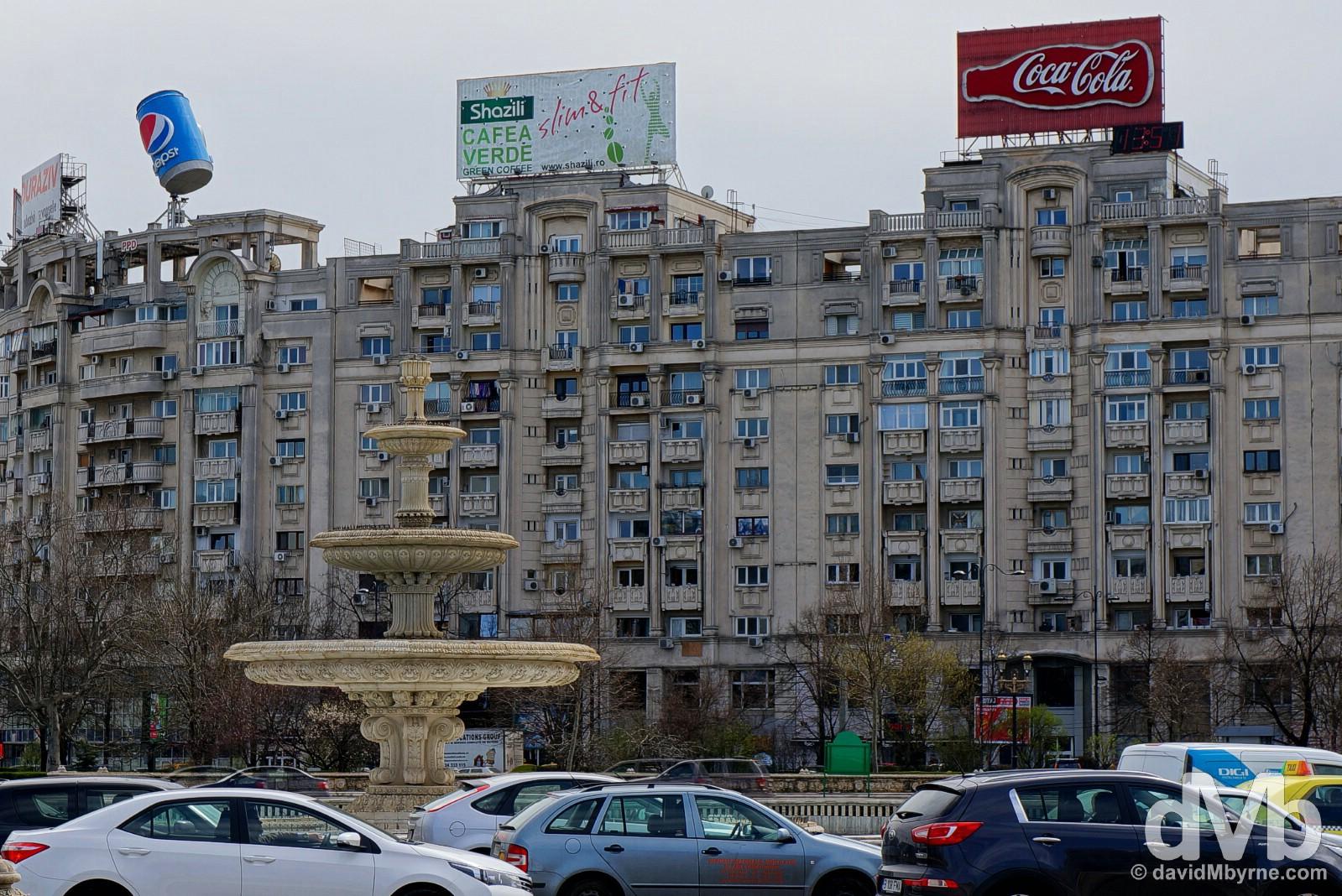 Piata Unirii, Bucharest, Romania. April 1, 2015.