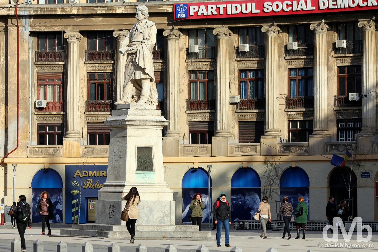 Piata Universitatii (University Square), Bucharest, Romania. April 1, 2015.