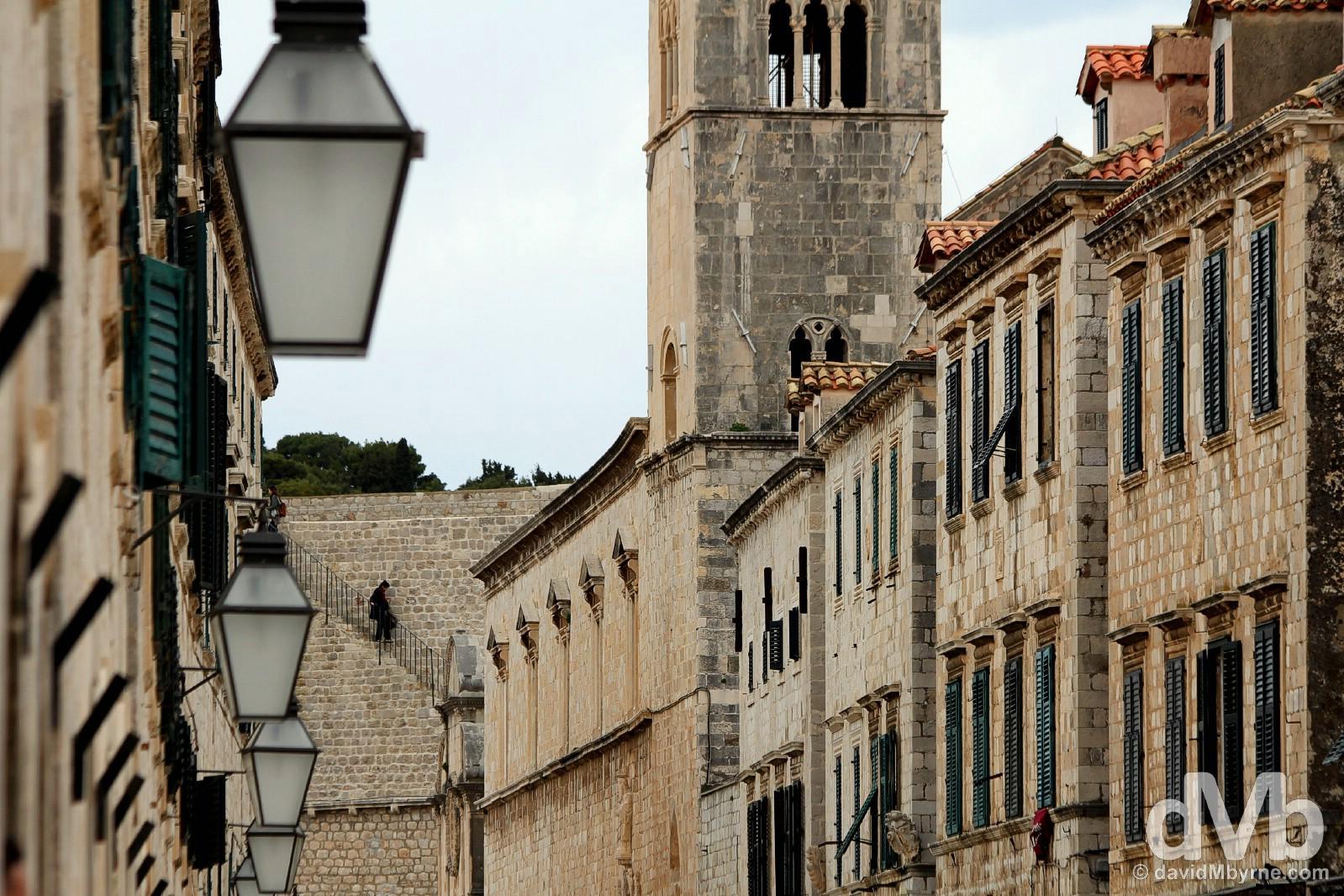 Palca, Old Town, Dubrovnik, Croatia. April 7, 2015.
