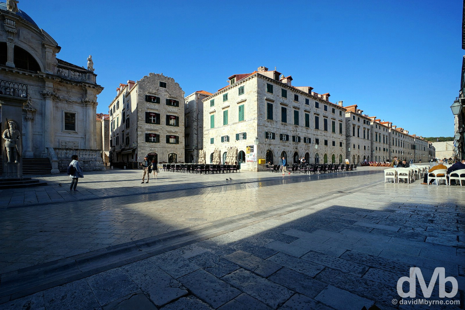 Placa, Old Town Dubrovnik, Croatia. April 8, 2015.