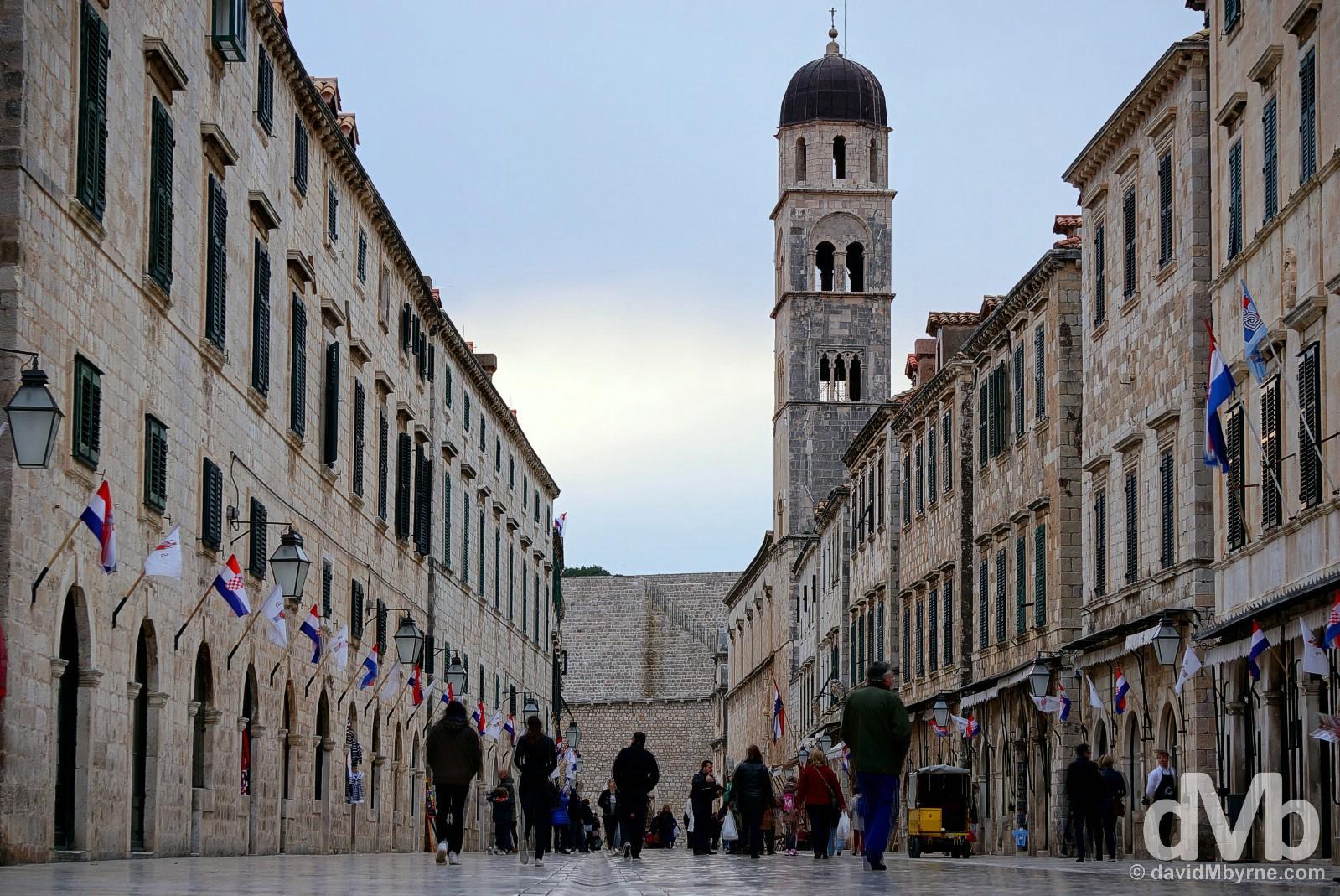 Placa, Old Town, Dubrovnik, Croatia. April 6, 2015.