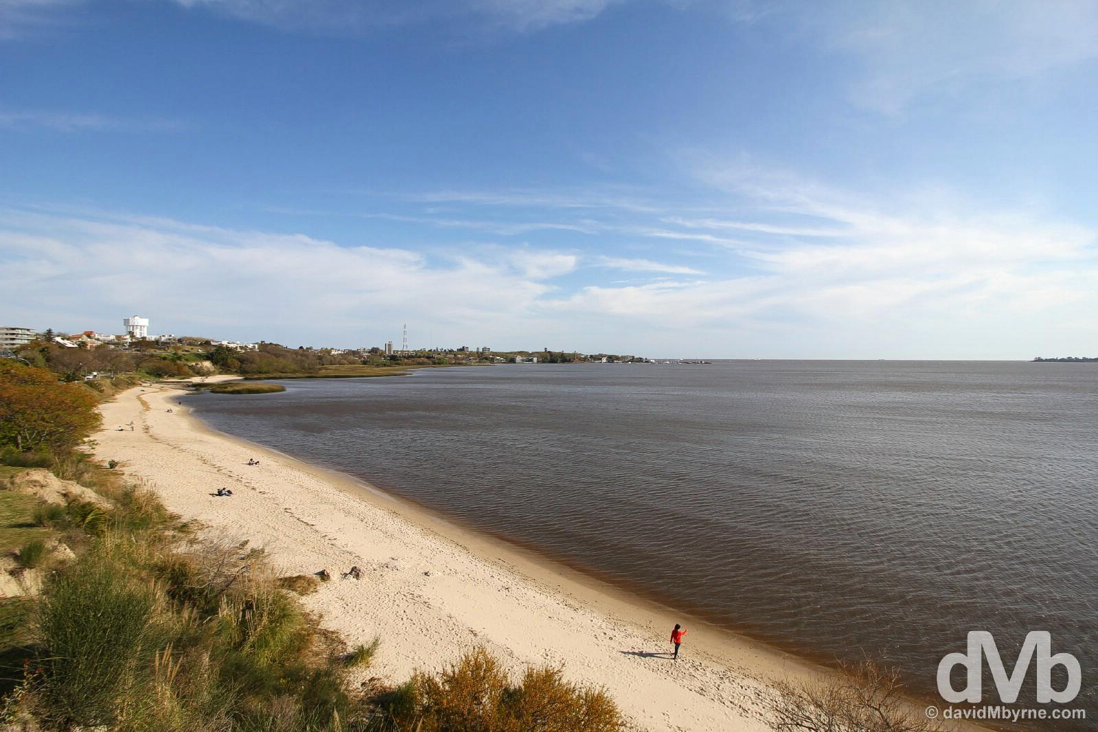 Playa urbana Blaneario Municipial, Colonia Del Sacramento, Uruguay. September 20, 2015.