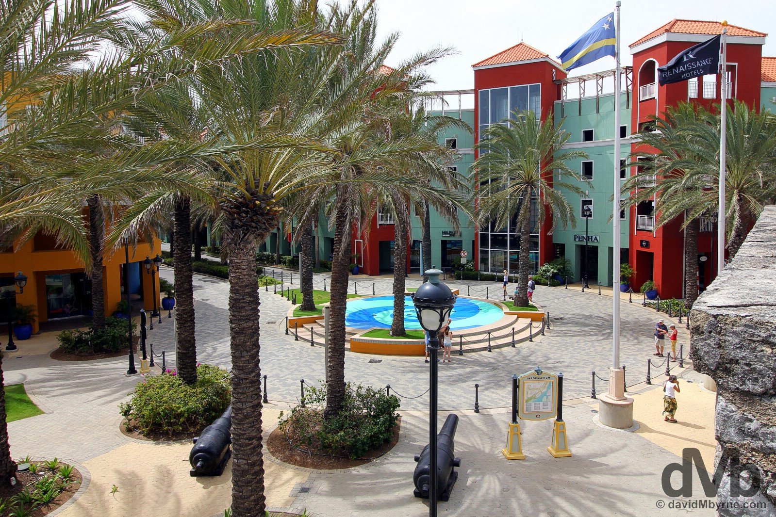 Renaissance Resort & Shopping Mall as seen from the walls of Rif Fort, Willemstad, Curacao, Lesser Antilles. June 19, 2015.