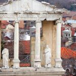 Ruins of the Roman theatre in Plovdiv, Bulgaria. March 29, 2015.