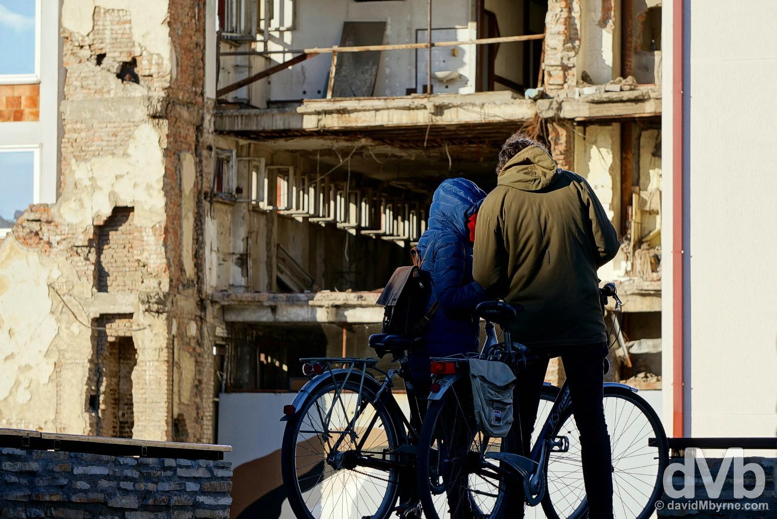 War ruins in Belgrade, Serbia. April 3, 2015.