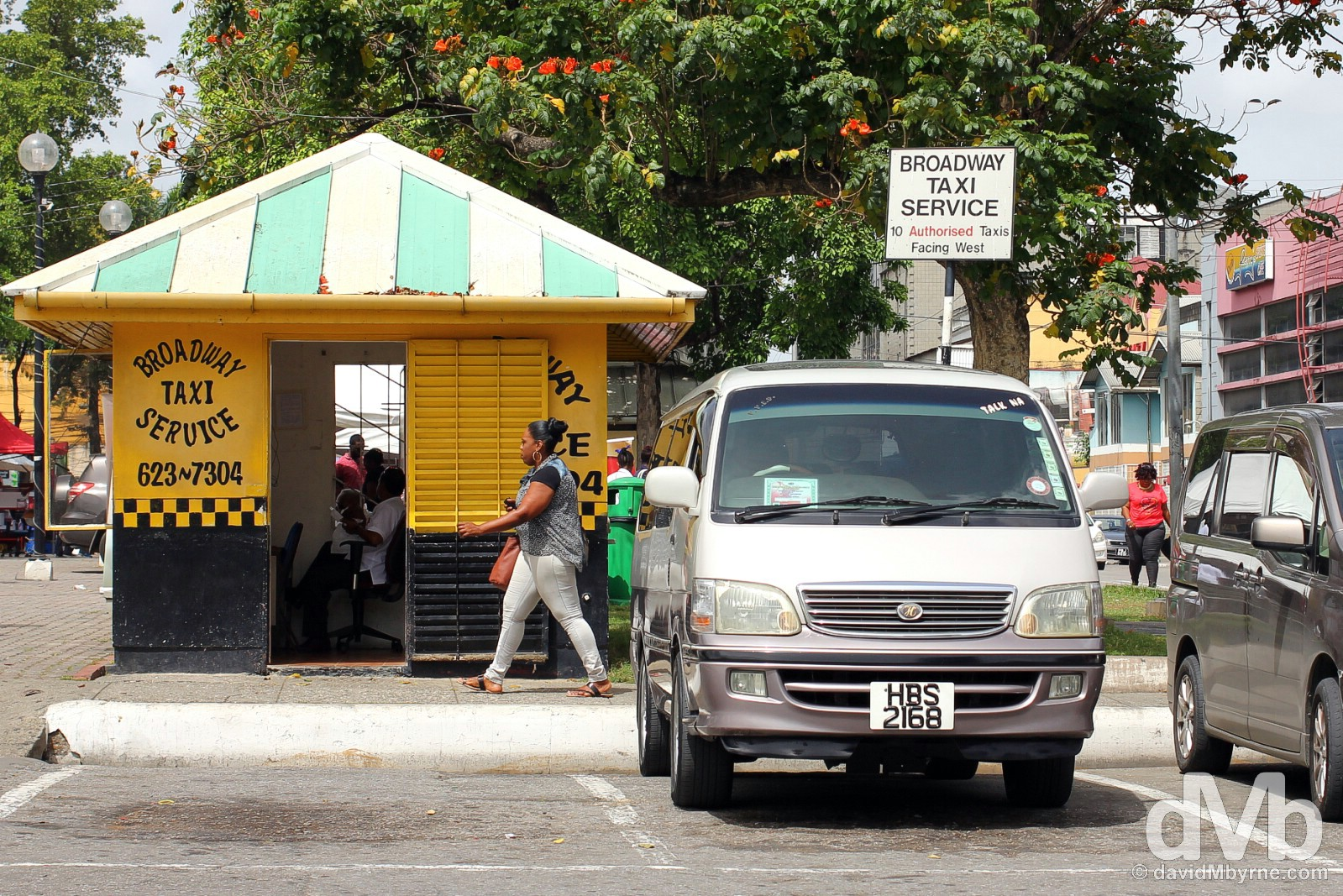 Independence Square, Port of Spain, Trinidad & Tobago, Lesser Antilles. June 18, 2015.
