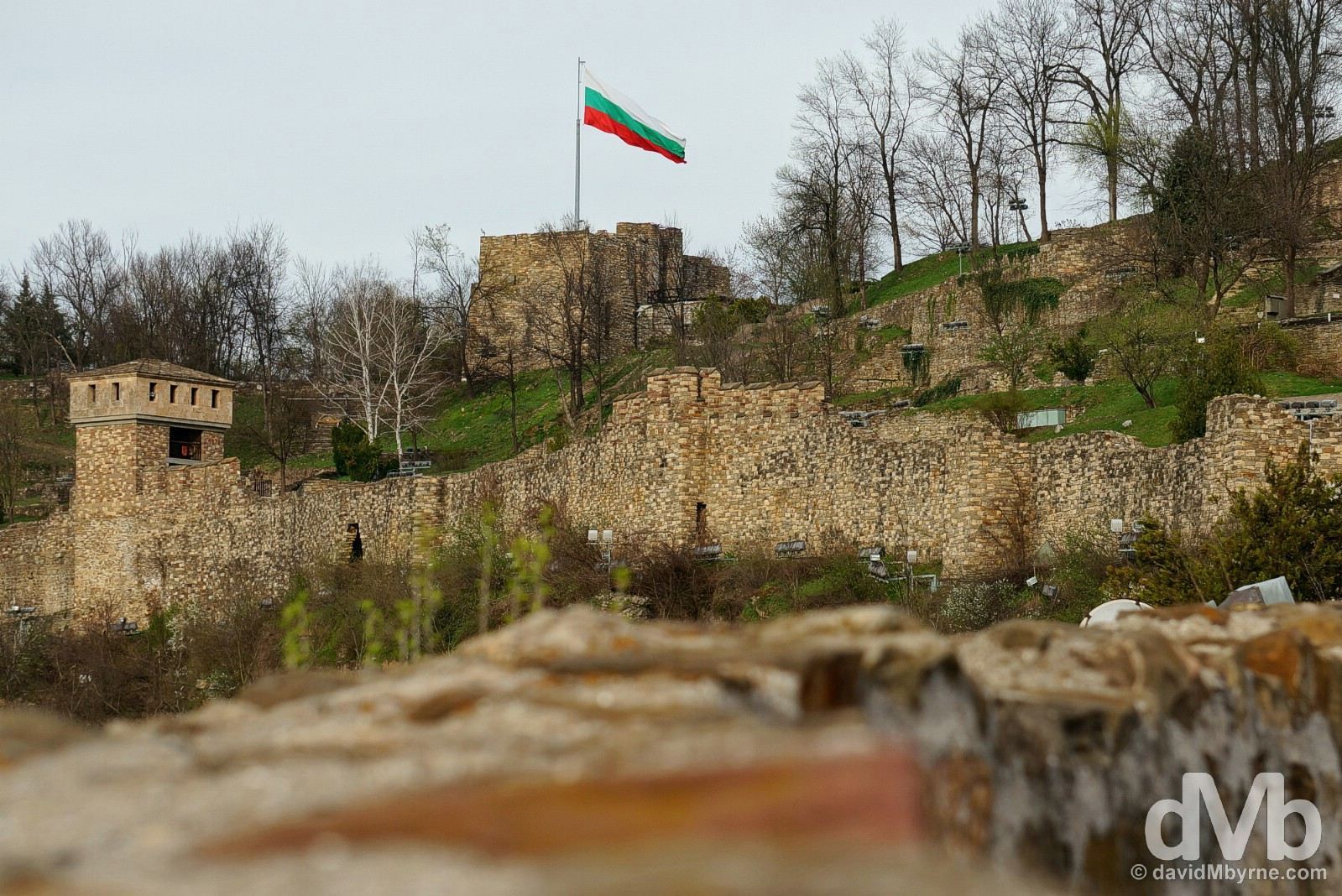 Tsarevets Fortress, Veliko Tarnovo, Bulgaria. March 30, 2015.