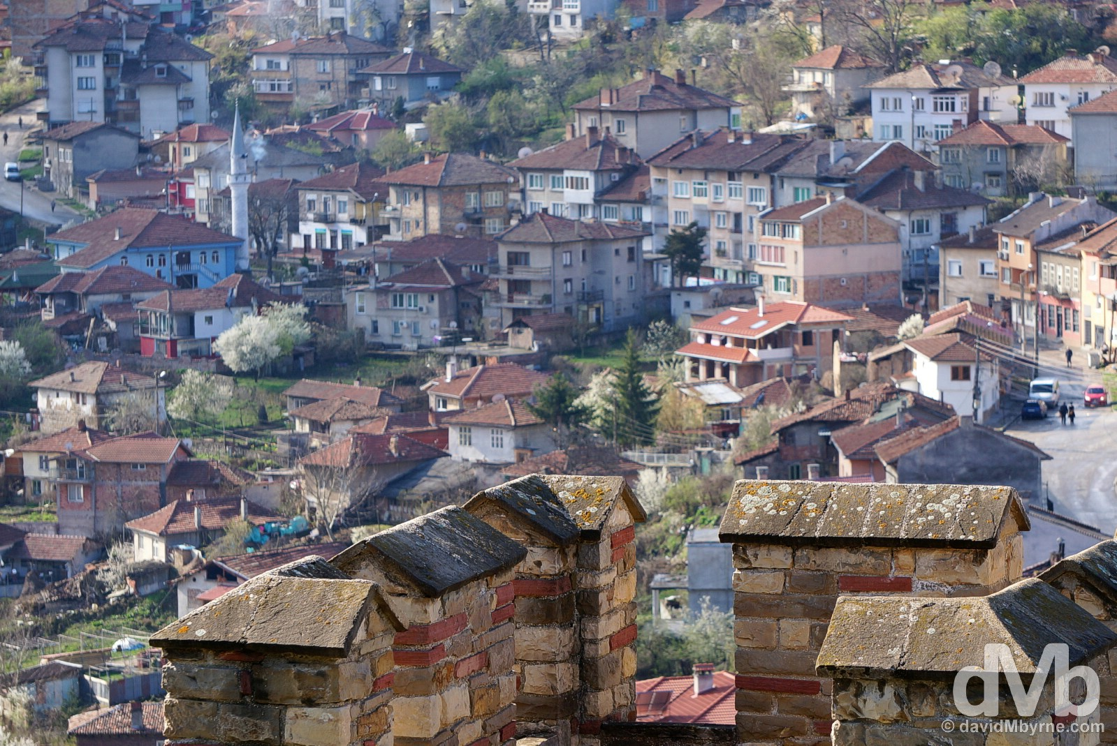 A portion of Veliko Tarnovo as seen from the walls of the Tsarevets Fortress. Veliko Tarnovo, Bulgaria. March 31, 2015.