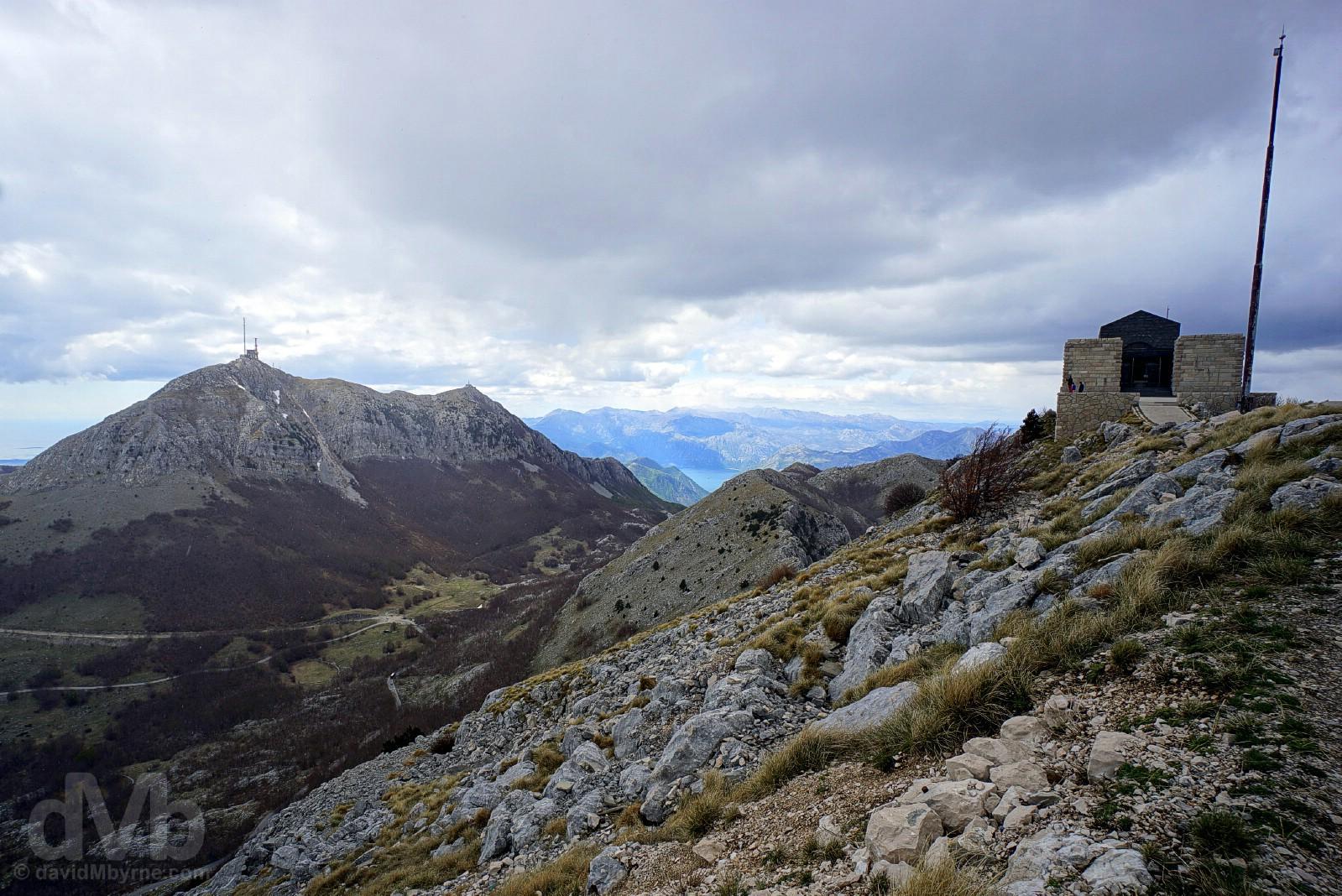 Njegos Mausoleum, the world's highest, in Lovcen National Park, Montenegro. April 20, 2017.