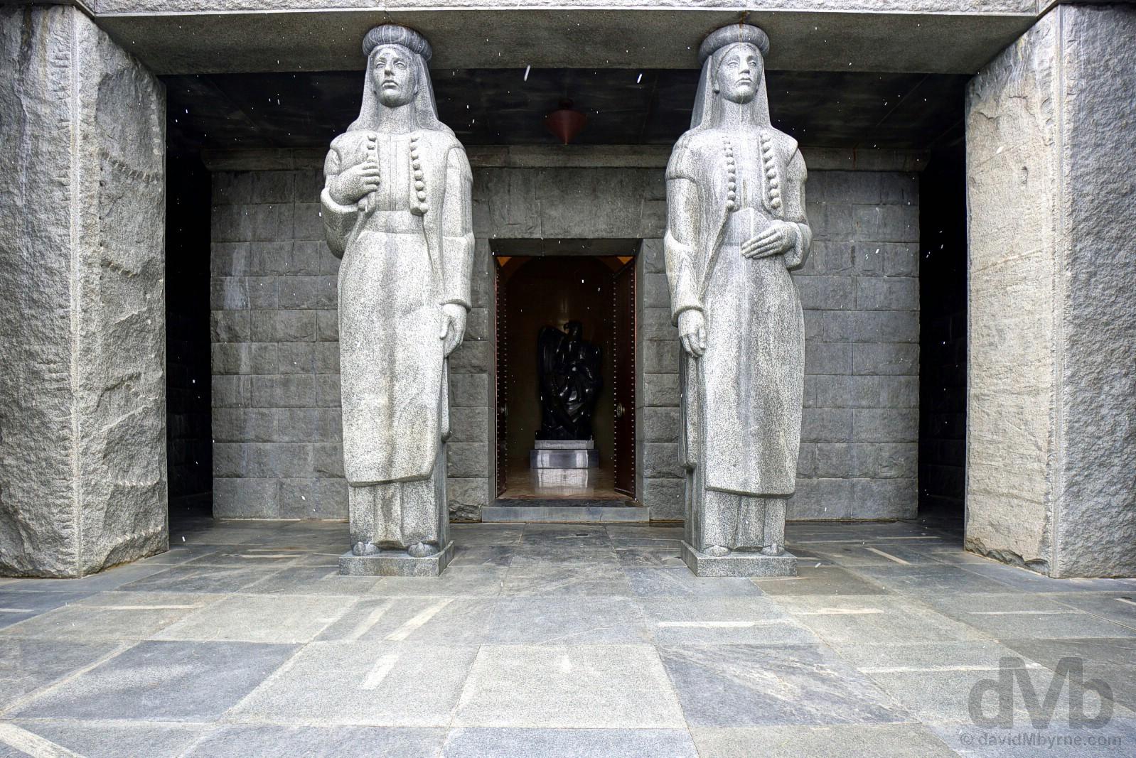 Njegos Mausoleum in Lovcen National Park, Montenegro. April 20, 2017.