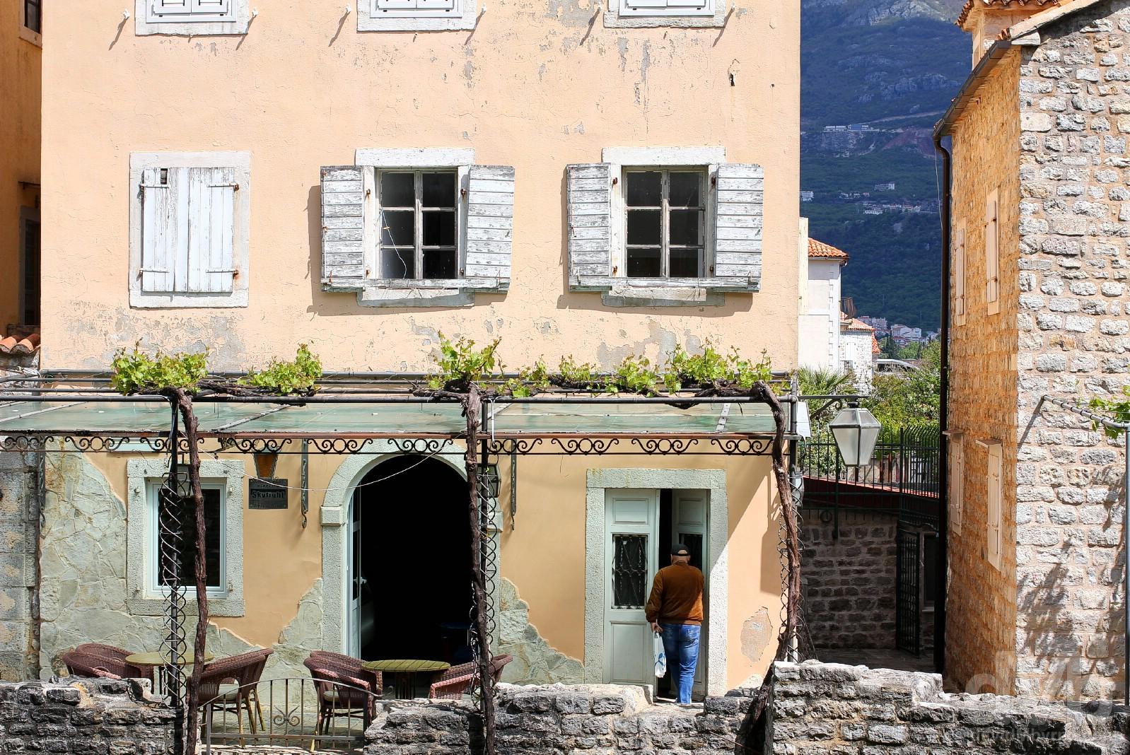 Stari Grad (Old Town), Budva, Montenegro. April 21, 2017.