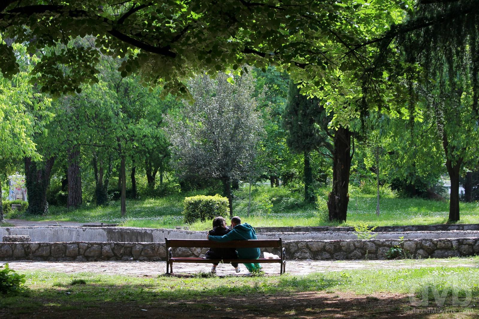 Njegosev Park, Podgorica, Montenegro. April 21, 2017.