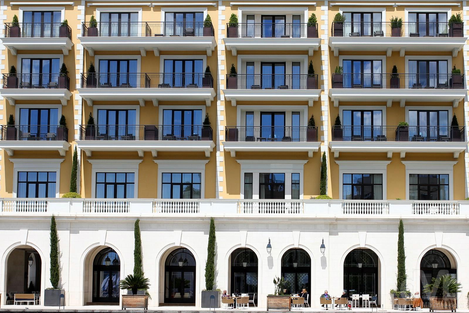 Regent Hotel & Residences, Porto Montenegro, Montenegro. April 20, 2017.