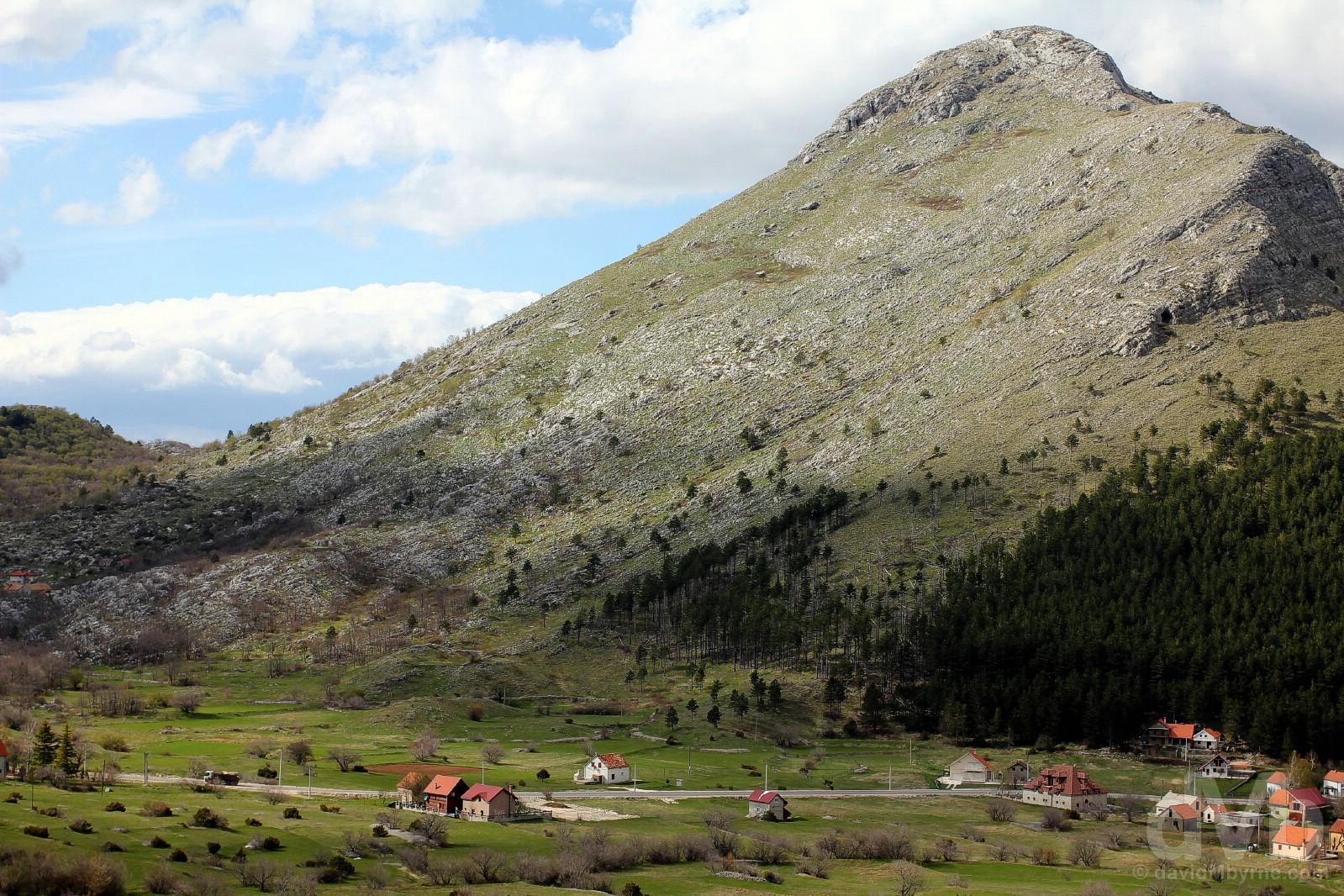 Scenery in Lovcen National Park, Montenegro. April 20, 2017.