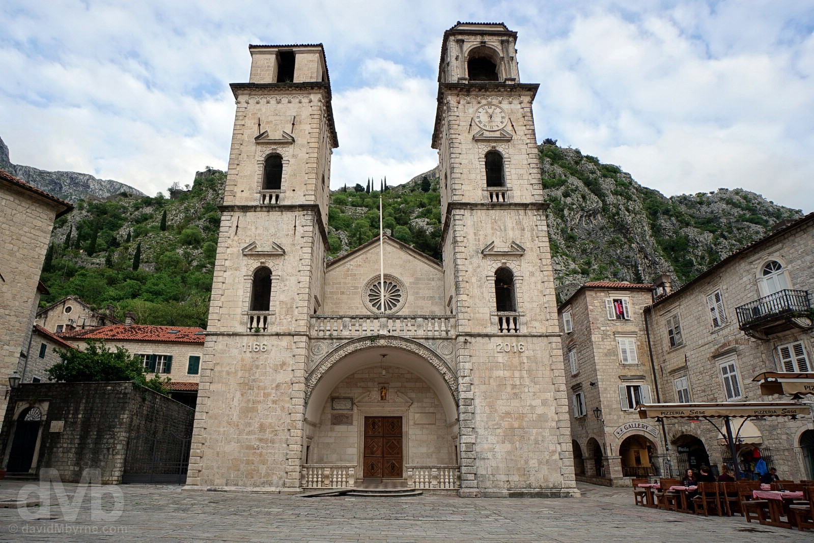 The Cathedral of St. Tryphon, Trg sv. Tripuna (St. Tryphon's Square), Stari Grad (Old Town), Kotor, Montenegro. April 19, 2017.