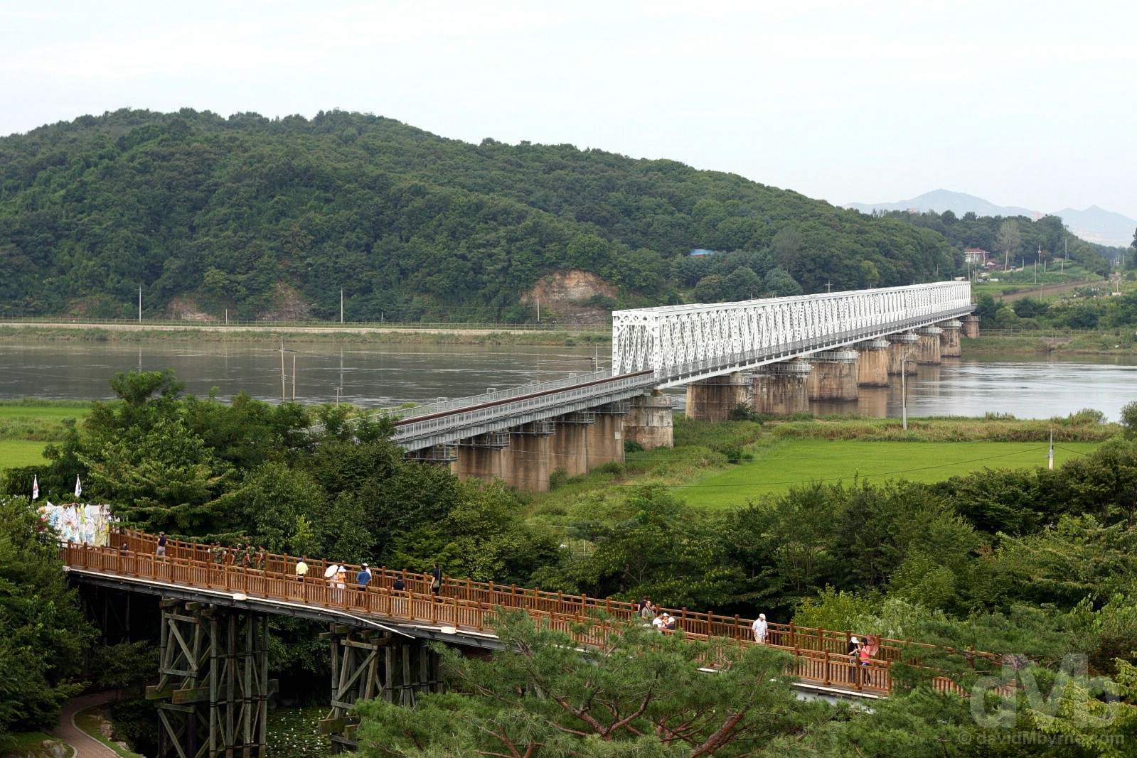 The Bridge of Freedom of the Demilitarized Zone (DMZ) at Imjingak, South Korea. August 21, 2009.
