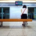 Itaewon metro station, Seoul, South Korea. July 29, 2017.
