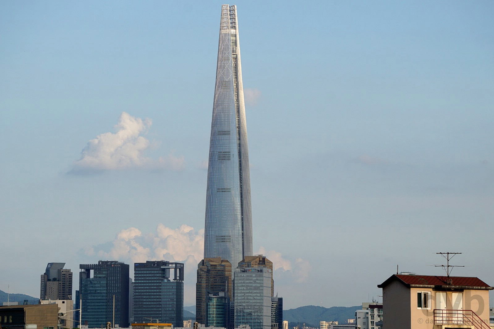 Lotte World Tower in Jamsil, Seoul, South Korea. July 25, 2017.