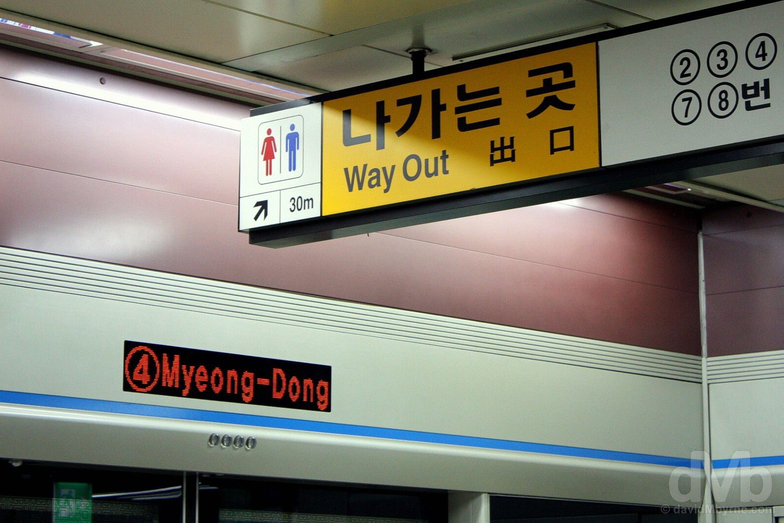 Myeong-dong Metro Station, Seoul, South Korea. July 8, 2008.