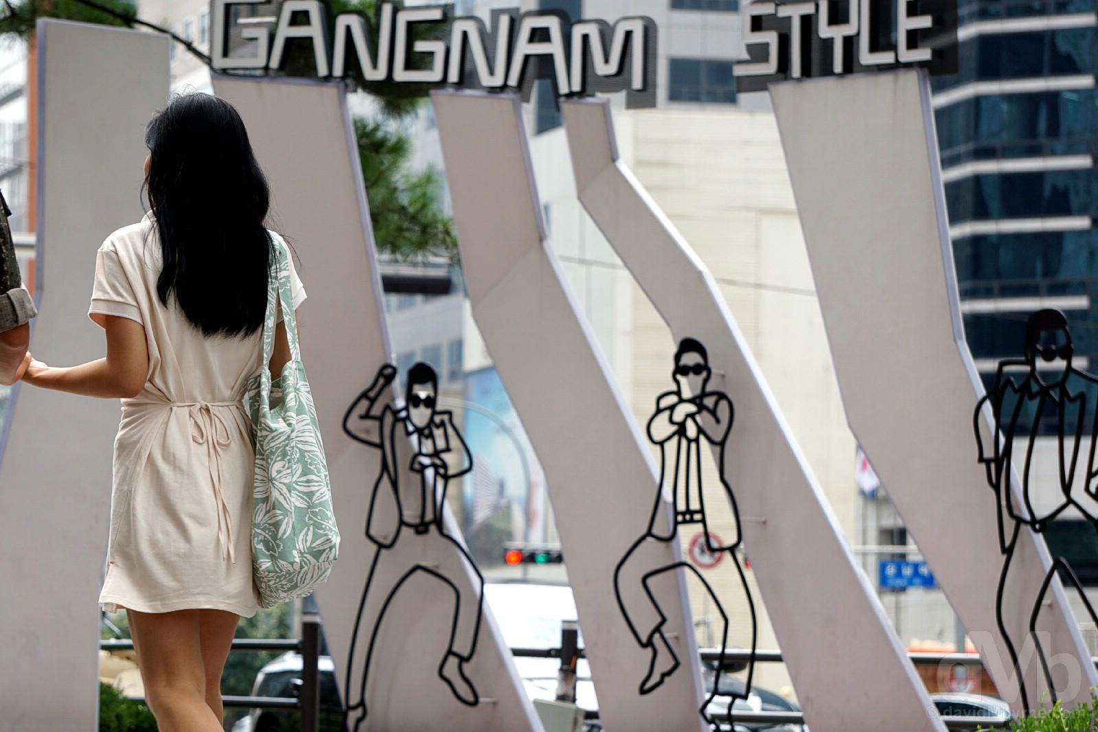 Gangnam style. Gangnam, Seoul, South Korea. August 5, 2017.