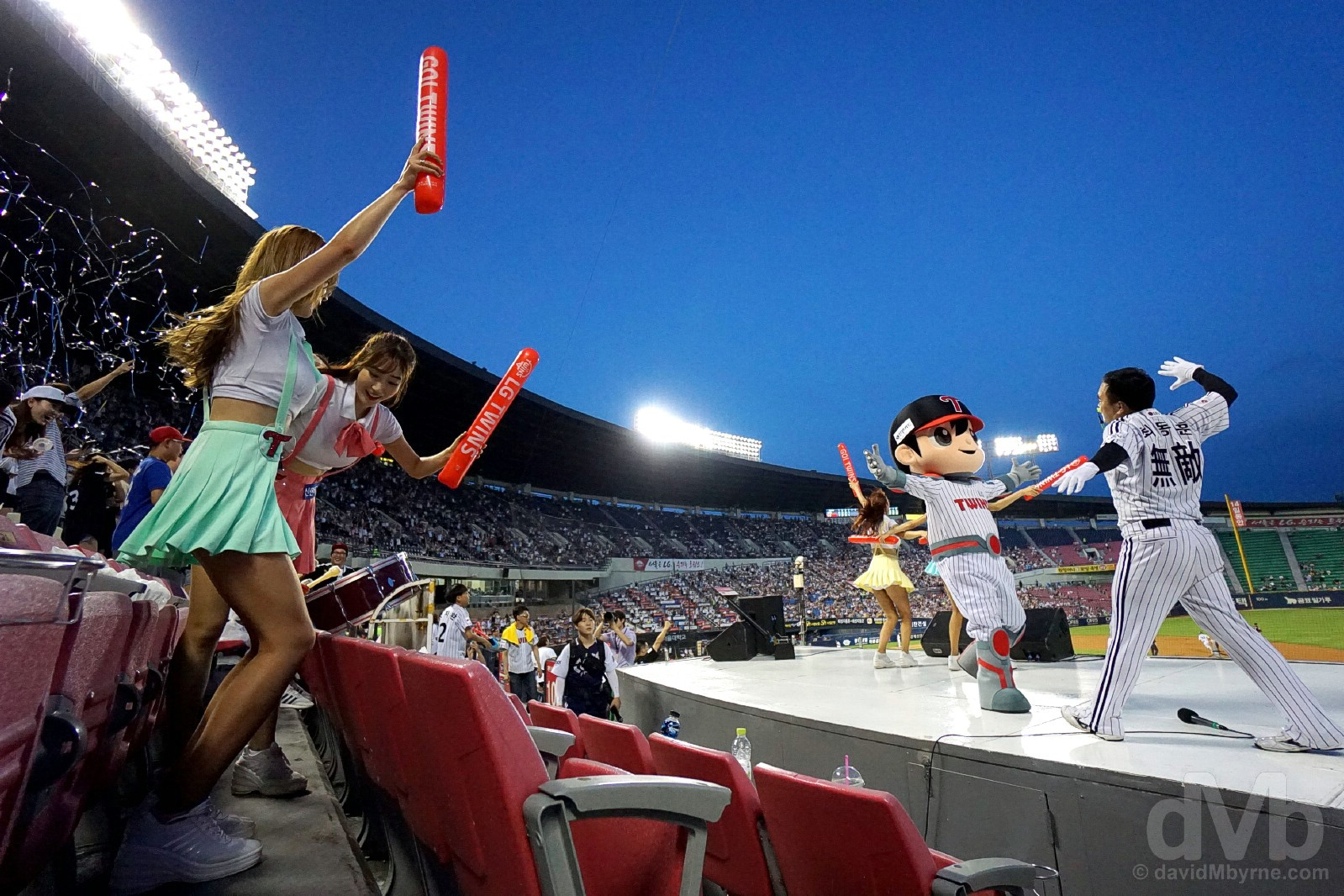 Grand slam time at Jamsil Stadium, Seoul, South Korea. August 3, 2017.