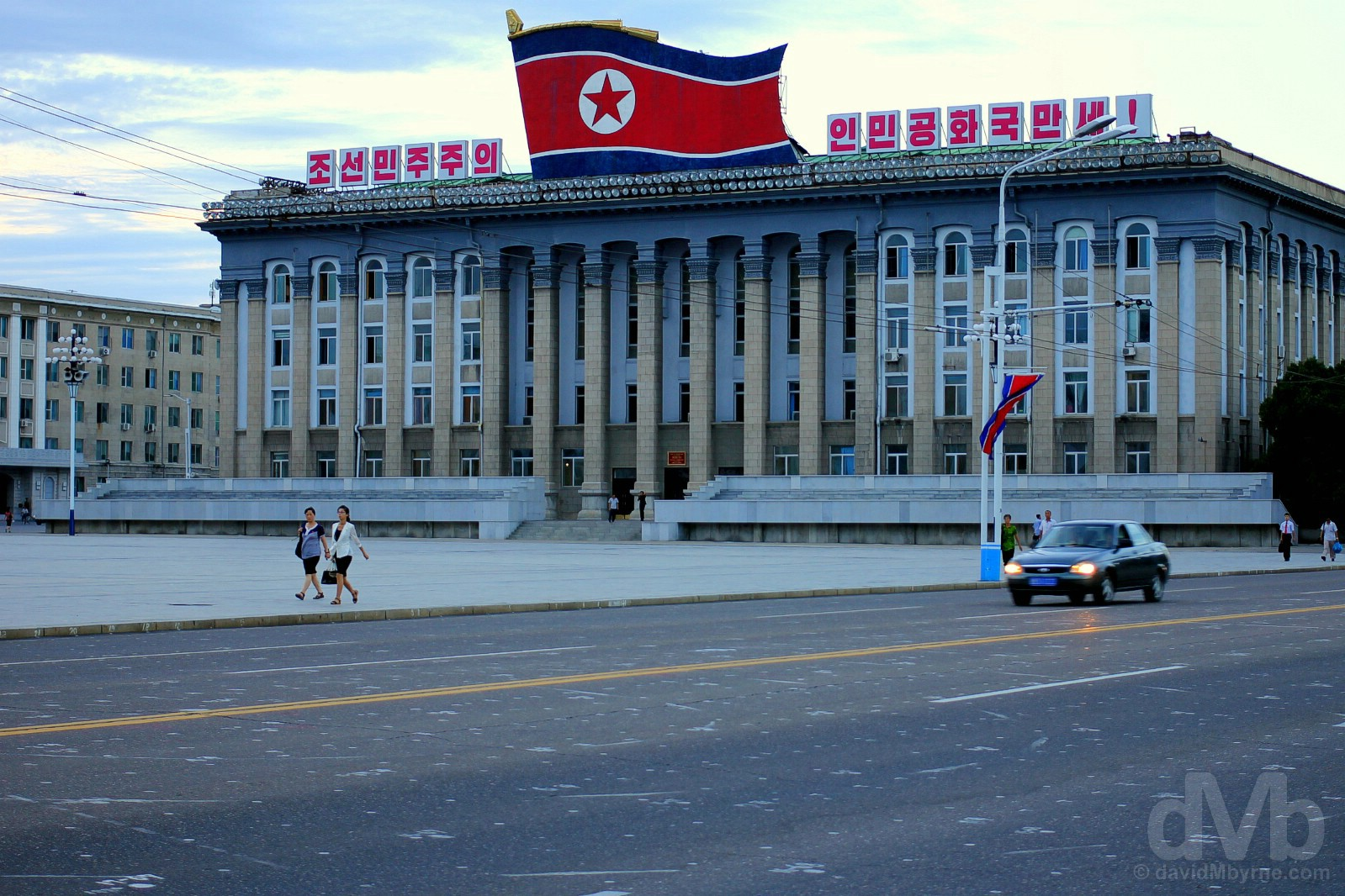 Kim Il-sung Square in Pyongyang, North Korea. August 14, 2017.