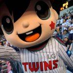 LG Twins mascot, Jamsil Stadium, Seoul, South Korea. August 3, 2017.