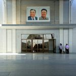 First glimpse. Sinuiju Train Station, northern North Korea. August 14, 2017.
