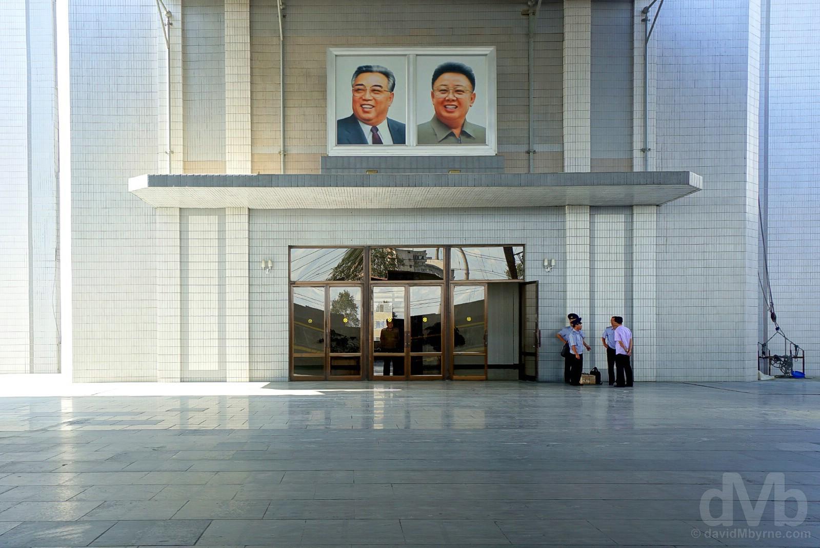 Sinuiju train station, North Korea. August 14, 2017.