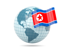 north_korea_globe_with_flag_256