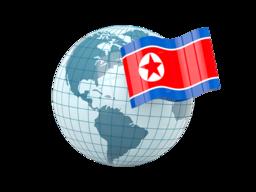 north_korea_globe_with_flag_256