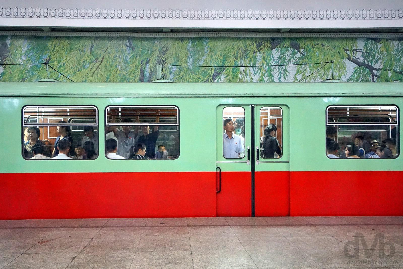 Metro, Pyongyang, North Korea. August 15, 2017.