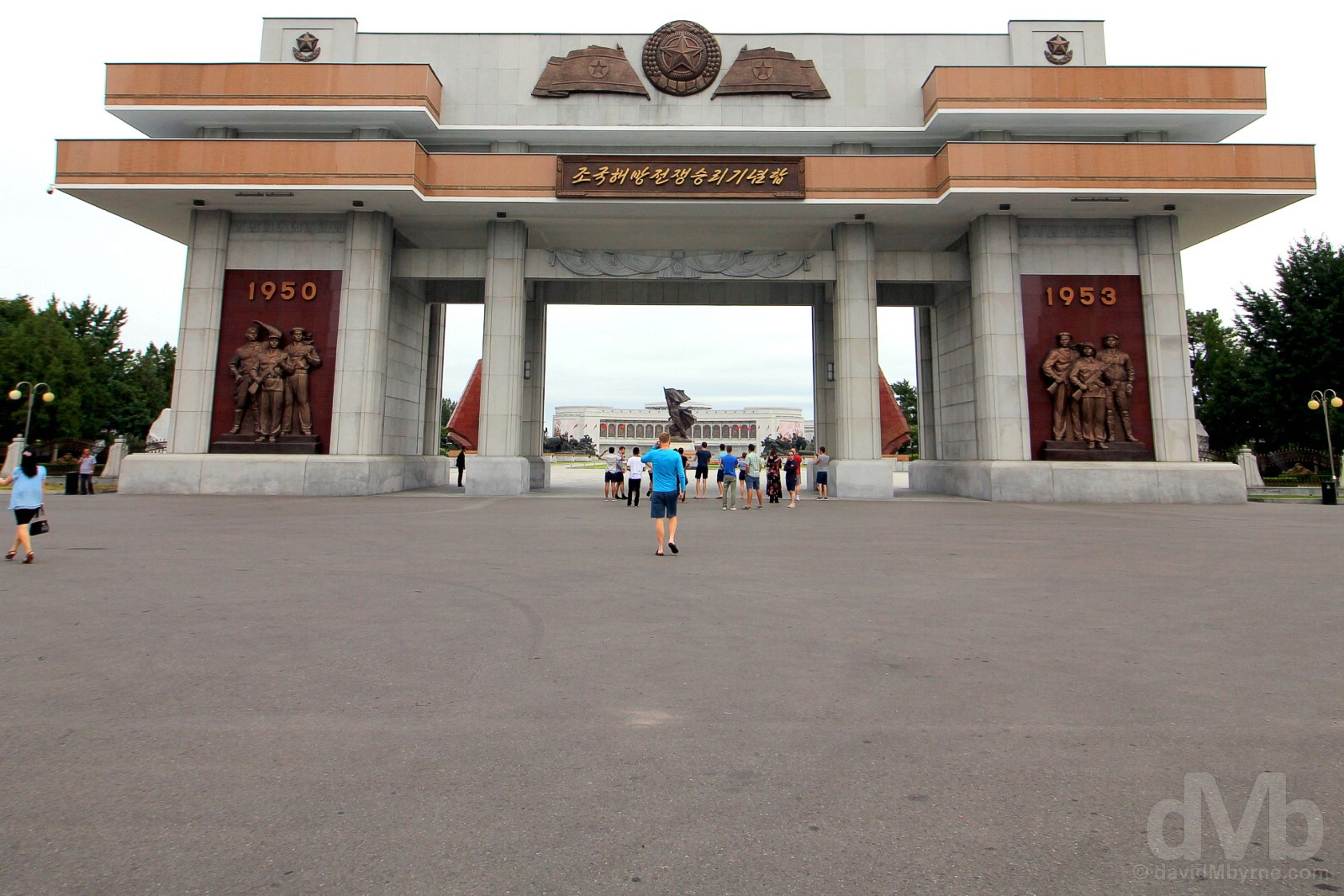 The entrance to the Victorious Fatherland Liberation War Museum in Pyongyang, North Korea. August 16, 2017.