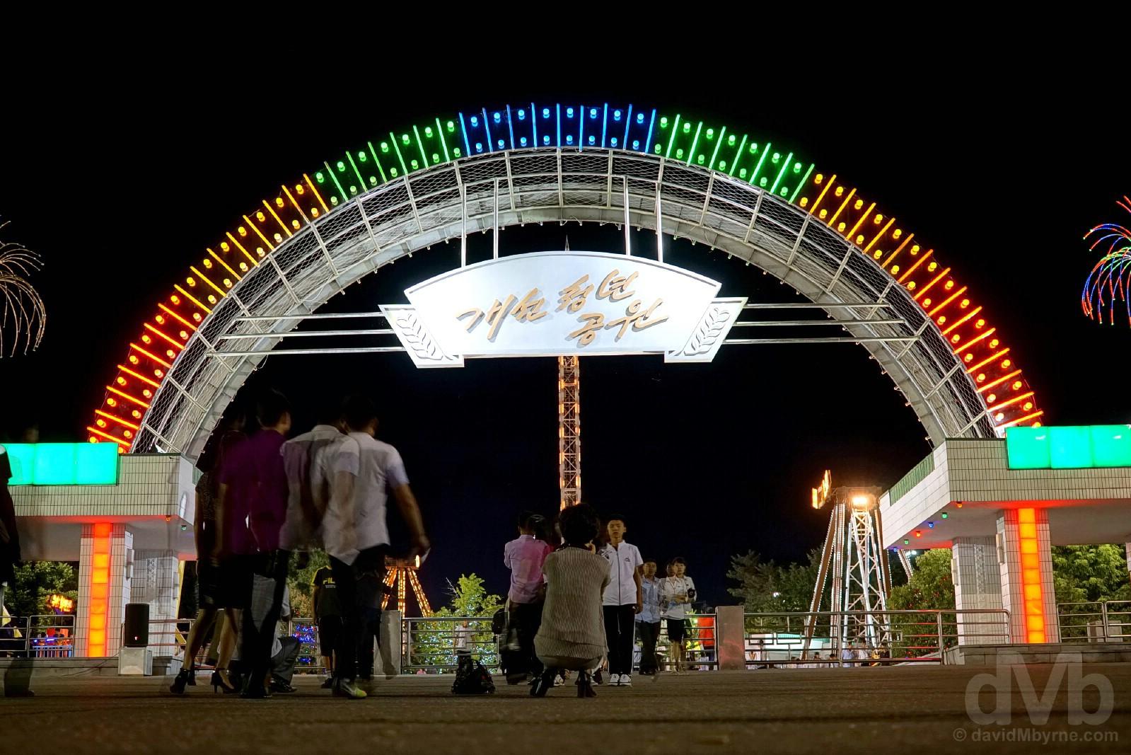 Kaeson Funfair, Pyongyang, North Korea. August 15, 2017.