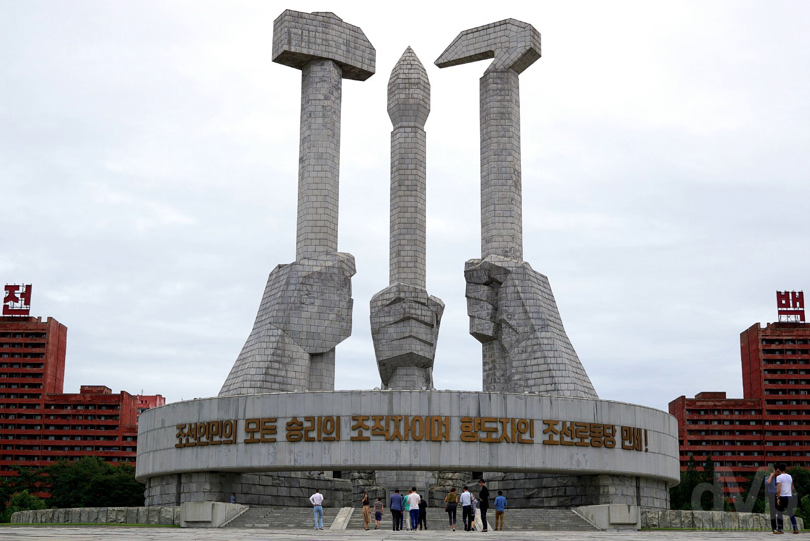 Monument to Party Founding, Pyongyang, North Korea. August 15, 2017.