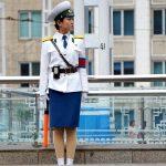 Traffic control. Sungri Street, Pyongyang, North Korea. August 15, 2017.
