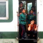 Riding the rails. North Korea. August 16, 2017.