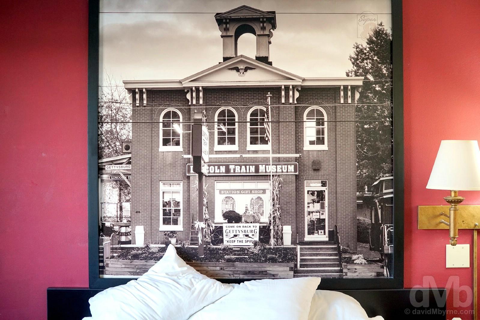 Motel 8, Gettysburg, Pennsylvania, USA. September 29, 2017.