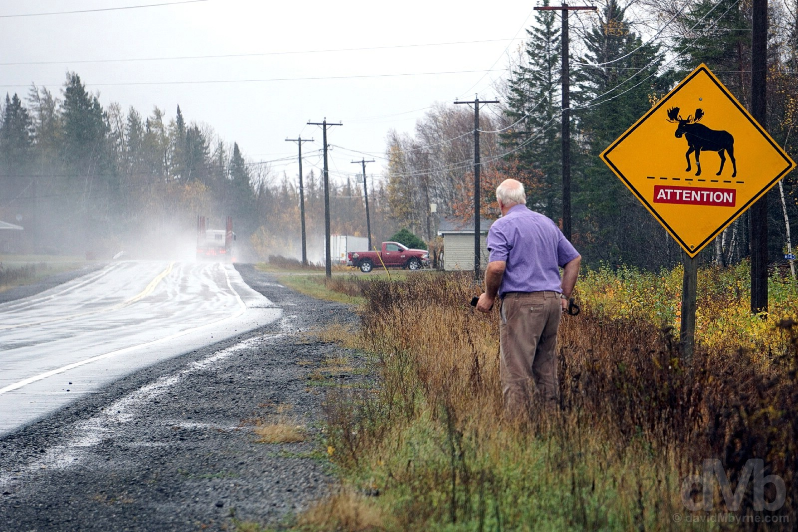 Route 3, New Brunswick, Canada. October 26, 2017.
