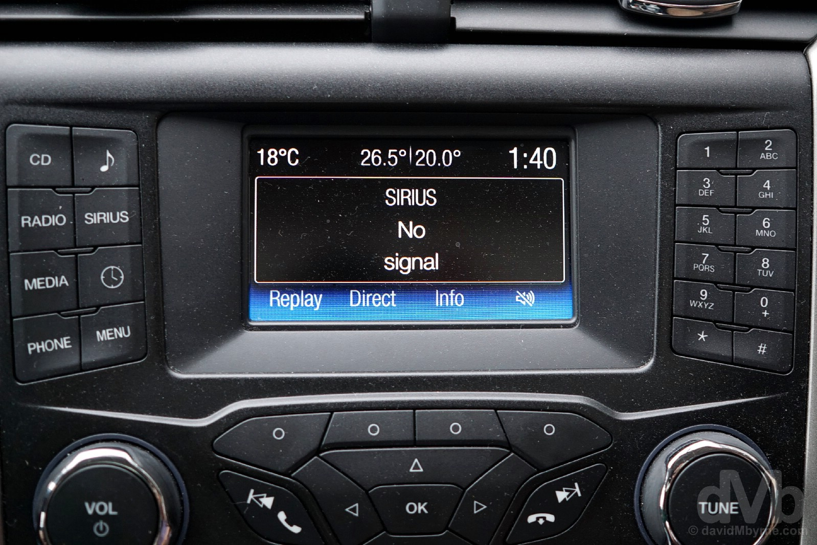 SiriusXM failure. US coastal Route 1, Maine. October 26, 2017.