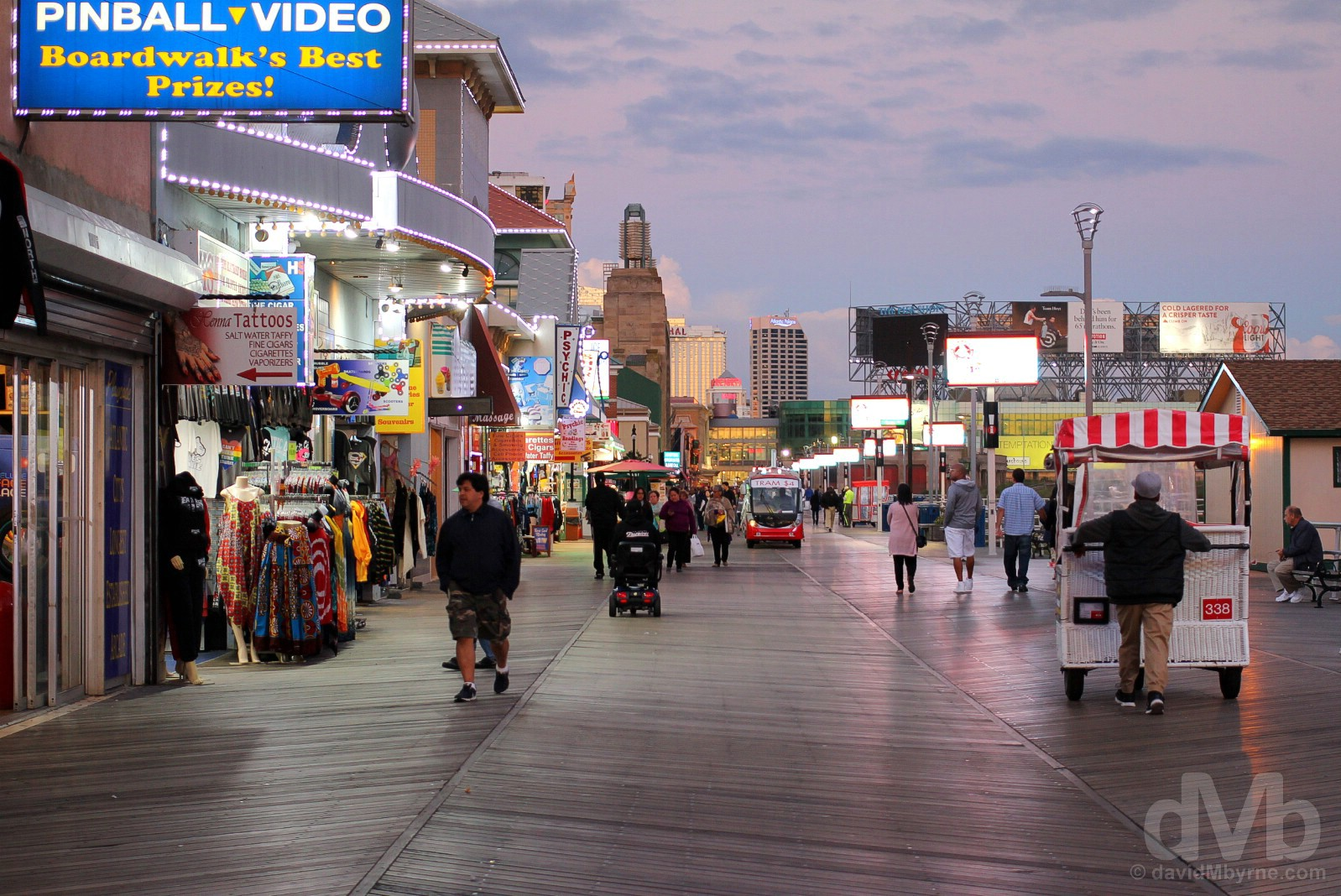 The Boardwalk. Atlantic City, New Jersey, USA. September 30, 2017.