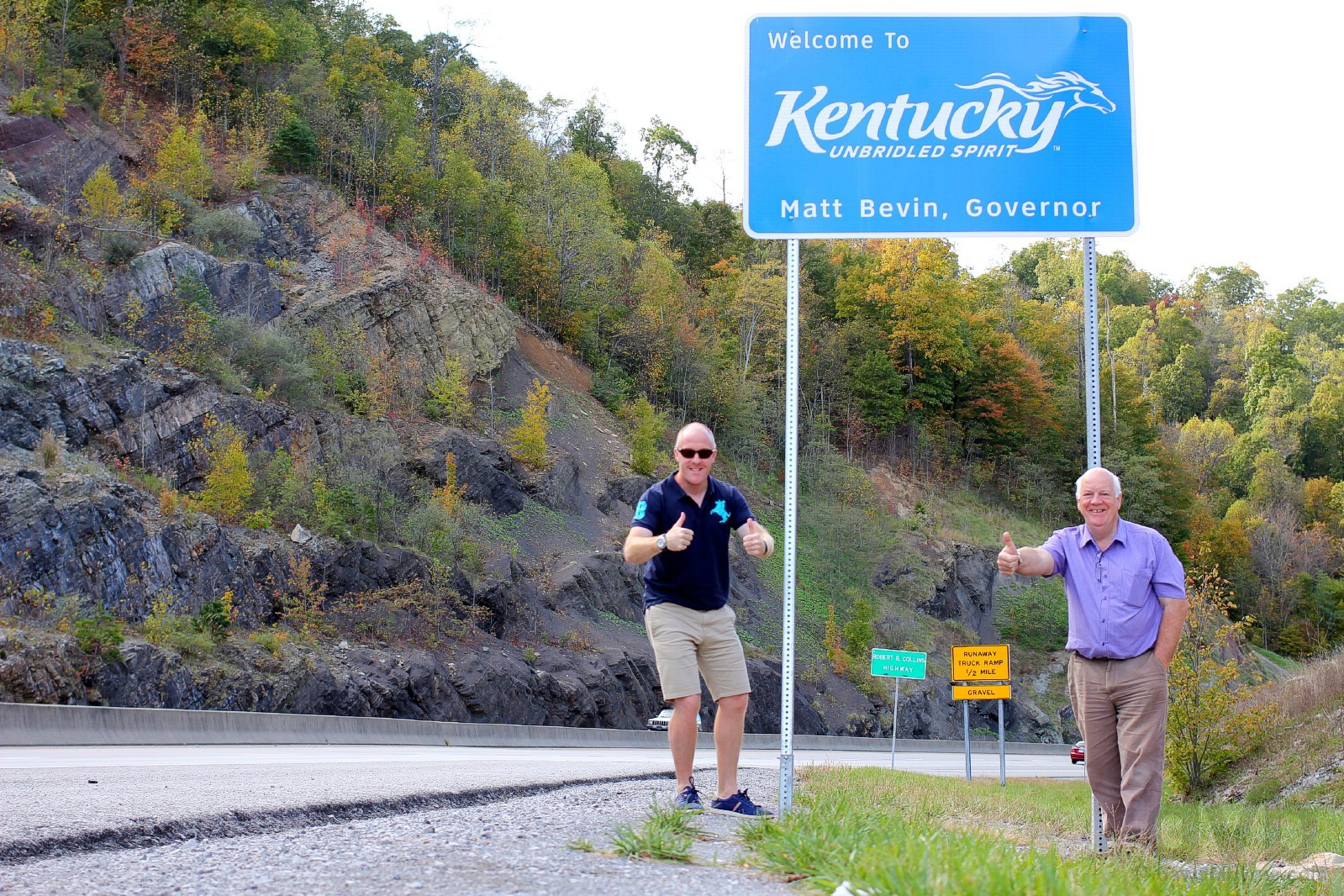 On the Virginia/Kentucky State Line, US 23. October 18, 2017.