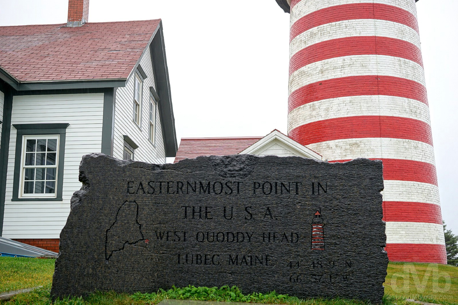 The Easternmost point in the USA. West Quoddy Head, Lubec, Maine. October 26, 2017.
