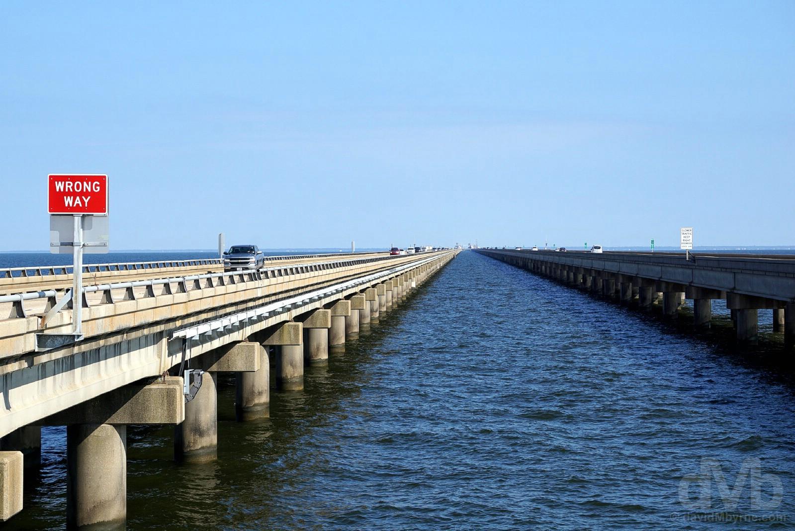 The Lake Pontchartrain Causeway, Louisiana. October 13, 2017.