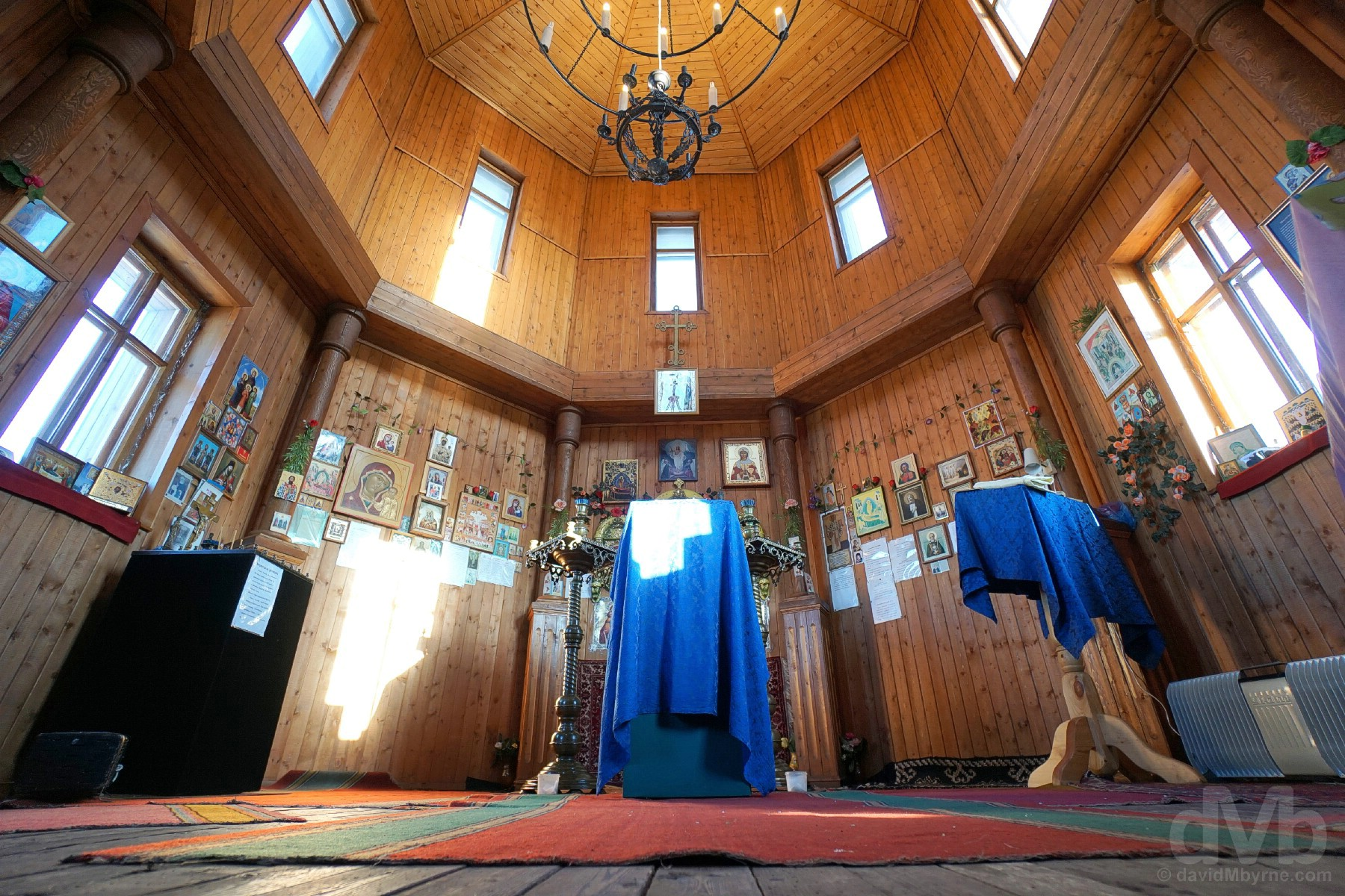 interior Russian orthodox church barentsburg svalbard norway